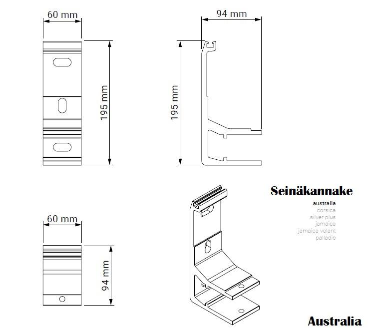 Nivelvarsimarkiisi Australia seinäkannakkeet