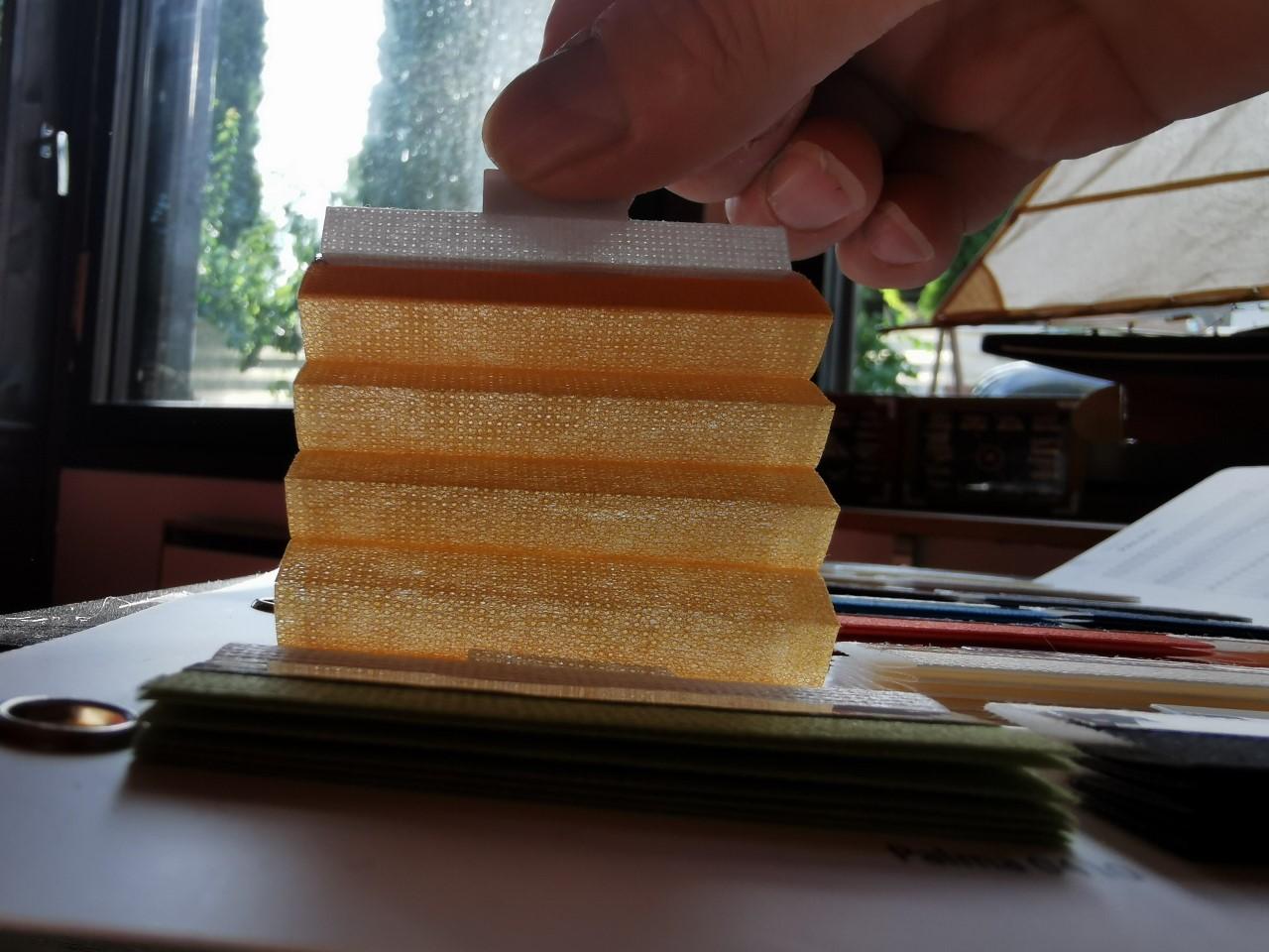 Palma peittävä kenno plisekangas