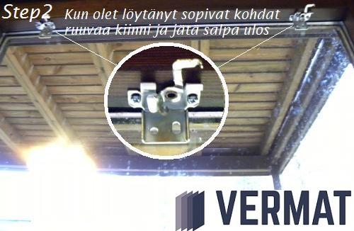 Pinta-asennusmallisen sälekaihtimen asennusohje