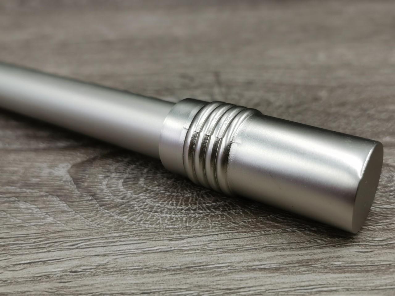 16mm matta hopea verhotanko