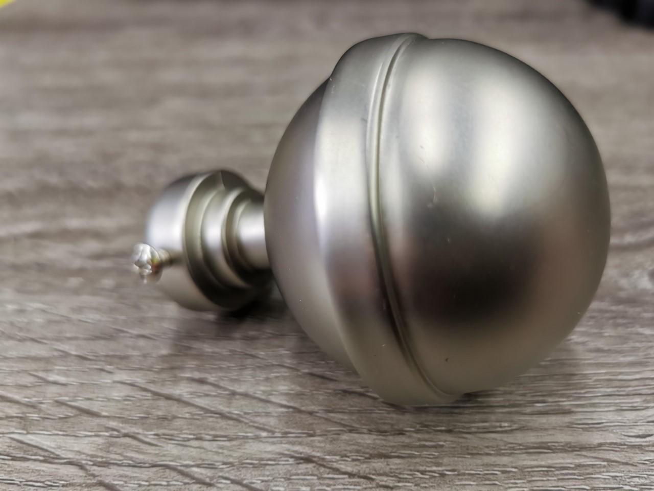 25mm tankopääty pallo matta hopea
