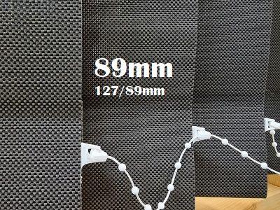 Aurinkosuojakangas 5% screen pystylamellikaihtimena - Pystylamellikaihdin 89m