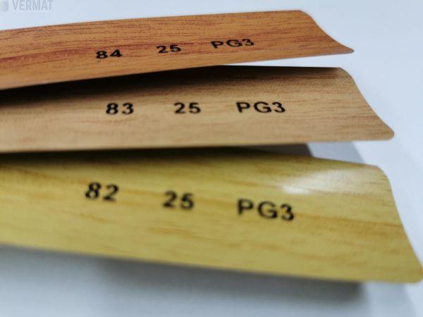 Sälekaihdin pinta-asennusmalli 25mm, puujäljitelmä
