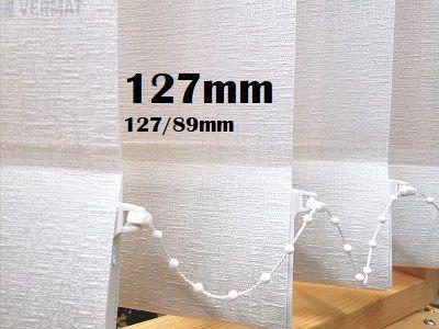 Pystylamellikaihdin 127mm kohokuviollinen peittävä BAN-kangas