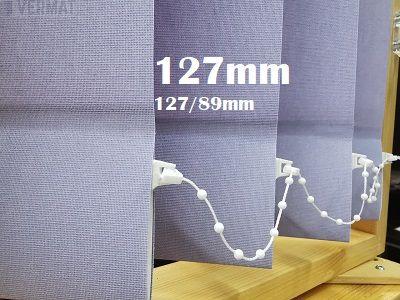 Pystylamellikaihdin 127mm yksivärisellä peittävällä CARA-kankaalla