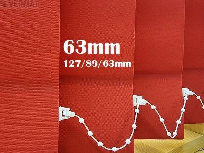 Pystylamellikaihdin 63mm CARL hyvin peittävällä yksivärisellä kankaalla - Pystylamellikaihtimet omalla mitalla halvalla vermat.fi verkkokaupasta. Netistä 24h
