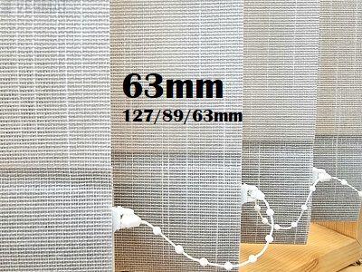 Pystylamellikaihdin 63mm struktuuri ITA-kankaalla, peittävällä raidallisella - Pystylamellikaihtimet omalla mitalla halvalla vermat.fi verkkokaupasta. Netistä 24h