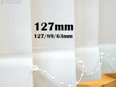 Pystylamellikaihdin 127mm struktuurisella raidallisella peittävällä LINE-kankaalla - Pystylamellikaihtimet halvalla vermat.fi verkkokaupasta omalla mitalla