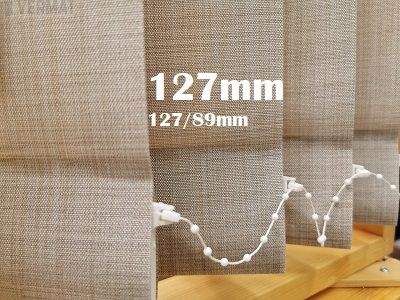 Pystylamellikaihdin 127mm metallisella struktuurisella peittävällä OSLO-lamellikankaalla