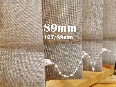 Pystylamellikaihdin 89mm metallisella struktuurisella peittävällä OSLO-lamellikankaalla