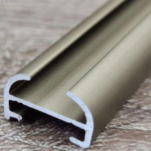 ALU-150 alumiininen MATTA KUPARI matala verhokisko