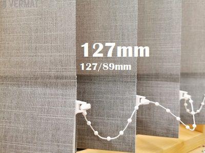 Pystylamellikaihdin 127mm peittävällä struktuurisella BOT-kankaalla