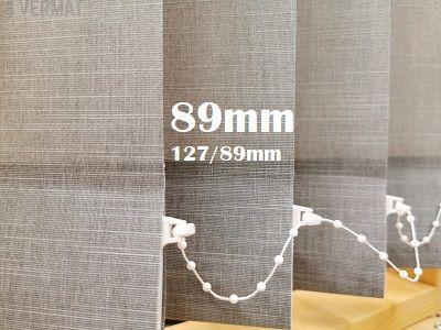 Pystylamellikaihdin 89mm struktuurisella peittävällä BOT-kankaalla